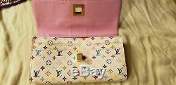 Auth Louis Vuitton Porte-noeud Multi-couleur / Blanc Porte Livraison Gratuite