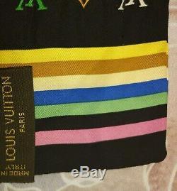Authentique Bandeau En Soie Foulard Noué LV Multicolore Louis Vuitton Bandeau