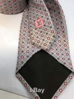 Authentique Louis Vuitton 100% Soie Hommes Cravate Monogramme