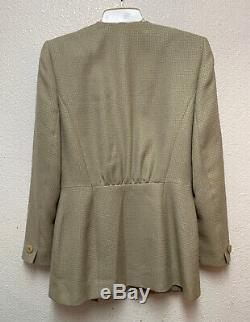 Avant Christian Dior Tie Blazer Vintage Femmes Sz 6 Vendu Tel Quel Voir Photos