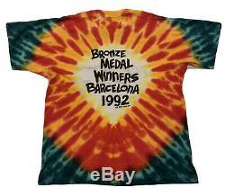 Basketball Vintage Lituanie 1992 Grateful Dead Shirt Tie Dye XL