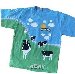 Ben Et Jerrys Partout Dans Tie Dye T-shirt Vintage. Occasion Great Condition