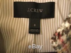 Blazer Regent Femme Nwt Jcrew Plaid Avec Cravate Velvet, Sz.
