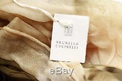 Brunette Cucinelli 100% Cachemire Écharpe Légère Florale A181