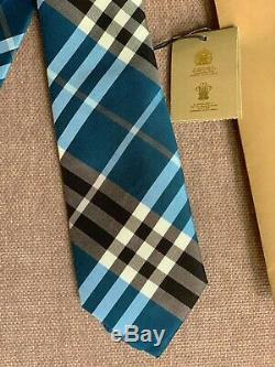 Burberry Check De Mens Motif Cravate En Soie Mélange Neuf Avec Des Étiquettes