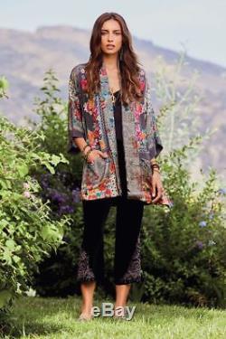 Cadre Johnny Was Samira Cravate Kimono Drapé Devant Wrap Multicolore Soie M, L Ou XL
