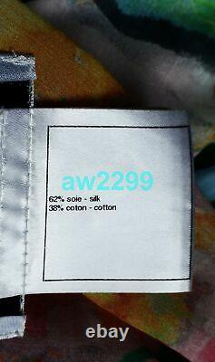 Chanel 11c Piste Iconic Couleur Eau Kaftan Robe Dissimulation Sash Tie Ceinture One Siz