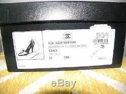 Chanel Cheville Nib Attacher Chaussures / Pompes Avec Logo Chanel En Perles Orig. 545 $