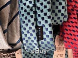 Charvet Lot De Trois 3 Nouvelles Avec Étiquettes Cravates Cravates Made In France