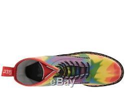 Chaussures Pour Femmes Dr. Martens Tie-dye Pride 1460 Bottes Pour Les Yeux 8 23330102 Multi Nouveau