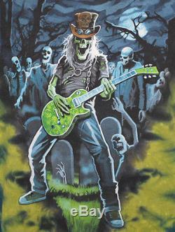 Chemise De Cravate Vintage Iron Maiden Grateful Dead Rock Band M Moyen