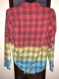 Chemise Tie-dye En Coton Délavé Amiri Taille M / Mx1 Slp Saint Laurent Patchwork
