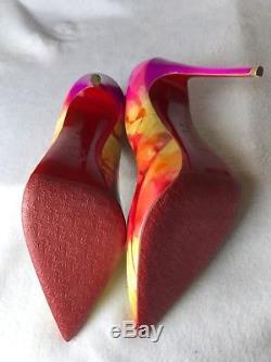 Christian Louboutin So Kate 120 Patent Tie Et Dye Multicolor Pompes Euro 37.5