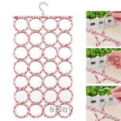 Cintre Anneau Design Avec 28 Anneaux Slot Écharpe Ceinture Cravate Organisateur Holder Hook