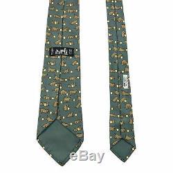Cravate 3.25 Hermes En Soie Multicolore Imprimée Boule De Chiot Bleu Sarcelle