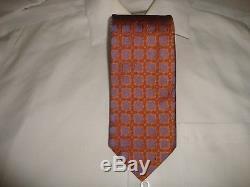 Cravate Cravate 100% Soie Homme Nwot Charvet Fabriquée En France