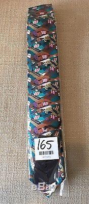 Cravate De Bateau Fantaisie Bleu Turquoise Prada Nwt (rare)
