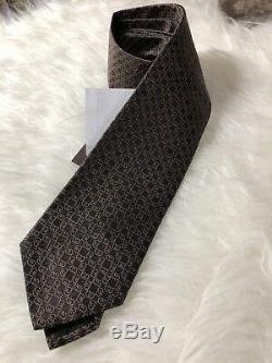 Cravate De Collier Gg Enchevêtré Pour Hommes De Gucci Nwt 250972 En Marron Or Bleu Multicolore