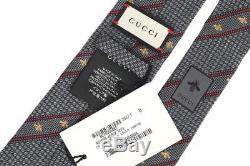 Cravate De Luxe En Soie Web Bee Avec Logo De Gucci Pour Hommes