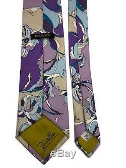 Cravate Emilio Pucci Fabriquée En Italie Nouveau Sans Étiquettes! Super Magnifique