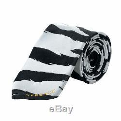 Cravate En Soie 100% À Imprimé Animalier Versace Pour Hommes