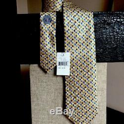 Cravate En Soie À Fleurs Multicolores, Ermenegildo Zegna, Tn-o, Italie