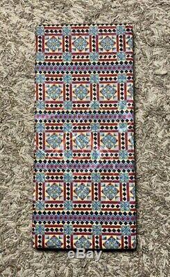 Cravate En Soie Géométrique Multicolore Italo Ferretti Neiman Marcus Rare Neuf Avec Boîte