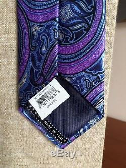 Cravate En Soie Multicolore Créée Par Ermenegildo Zegna, Cercle, Fantaisie, Pays-bas, Italie
