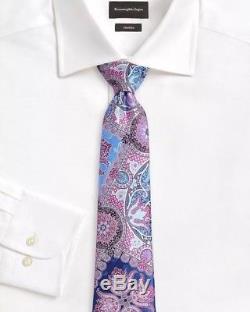 Cravate En Soie Rose Quindici Édition Limitée Ermenegildo Zegna Nwt Saks $ 285