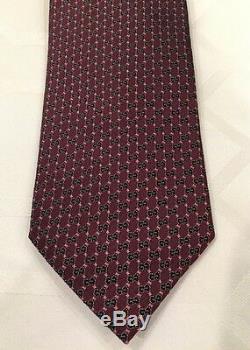 Cravate En Soie Tissée Imbriquée G / G Nwcc Gucci, Multicolore