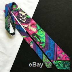 Cravate Gianni Versace En Soie Multicolore Mix-foulard Imprimé De 1991