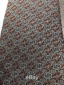 Cravate Homme Gg Guccissima De La Soie Des Hommes De Gucci De Nwt 351796 En Or Rouge Brun + Reçu