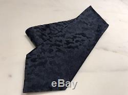 Cravate Louis Vuitton 100% Soie, Camouflage Bleu Marine