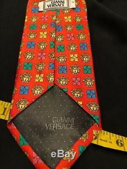 Cravate Medusa Pre Deatat Versace Multicolore Geometric Classic Cravate En Soie Euc