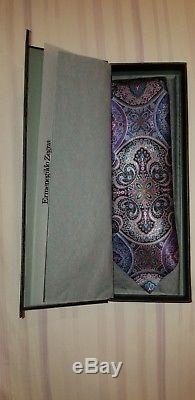Cravate Paisley Rose Et Multicolore Ermenegildo Zegna Quindici En Édition Limitée Neuf