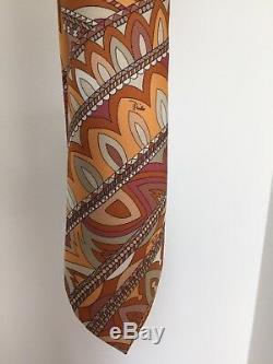 Cravate Pucci Superbe Multi Color Design, Nouveau