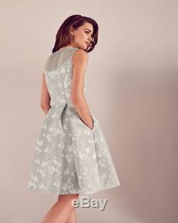 Cravate Ted Baker Le Nœud Alimi Oriental Blossom Bow Neck Dress Sz 1 / Us 4