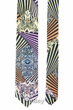 Cravate Versace 100% Soie Multicolore Pour Hommes