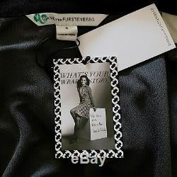 Diane Von Furstenberg Tn-o Dvf Abigail Silk Wrap Maxi Dress Taille 8