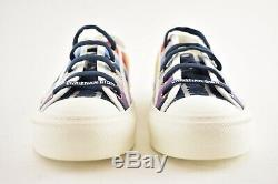 Dior Walk'n'dior Walk N Arc-en-rayure Blanche Lacent Tie Plat Entraîneur Sneaker 36