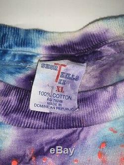 Division Vintage Pink Floyd 1994 De Bell Tournée Tie Dye XL Concert T-shirt