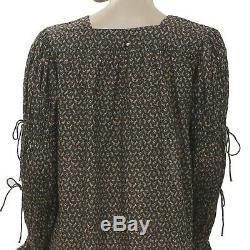 Doen Imprimé Floral Manches De Bell Tie Beach Front Boho Mini Robe S Nwd 199346