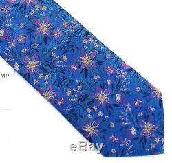 Duchamp London, Cravate Floral 'floral' Multicolore Faite À La Main, Rare
