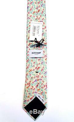 Duchamp London, Superbe Cravate À La Main 'floral' Multicolore 'normal