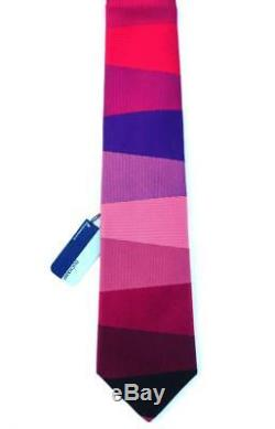 Duchamp London, Superbe Cravate 'échelle Multicolore' Blue Label ', Étiquette