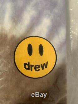 En Main Drew House Tie Dye Manches Courtes T-shirt Taille Moyenne Justin Bieber Nouveau