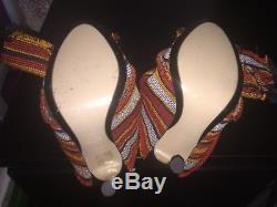 Épuisé N ° 21 Ronny Stripe Twist Cravate Nœuds Mules Org $ 690