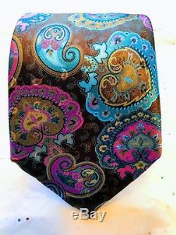Ermenegildo Zegna Quindici Beau Cravate Nwt 100% Soie
