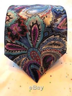 Ermenegildo Zegna Quindici Corporate Cravate En Soie 100% Très Élégante Nwt