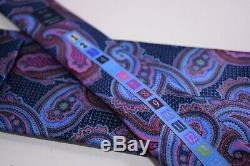 Ermenegildo Zegna Quindici Cravate En Soie Bleu Avec Paisley Multicolore